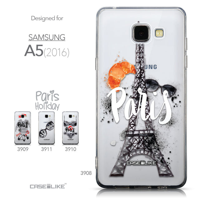 Collection - CASEiLIKE Samsung Galaxy A5 (2016) back cover Paris Holiday 3908