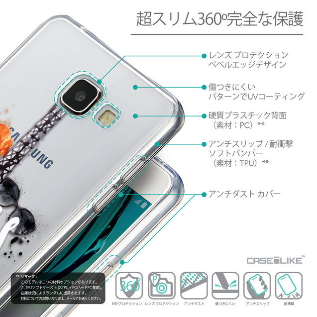 Details in Japanese - CASEiLIKE Samsung Galaxy A5 (2016) back cover Paris Holiday 3908