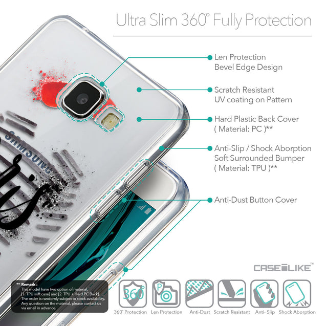 Details in English - CASEiLIKE Samsung Galaxy A5 (2016) back cover Paris Holiday 3909