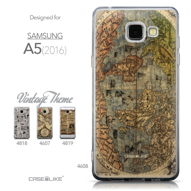 Collection - CASEiLIKE Samsung Galaxy A5 (2016) back cover World Map Vintage 4608