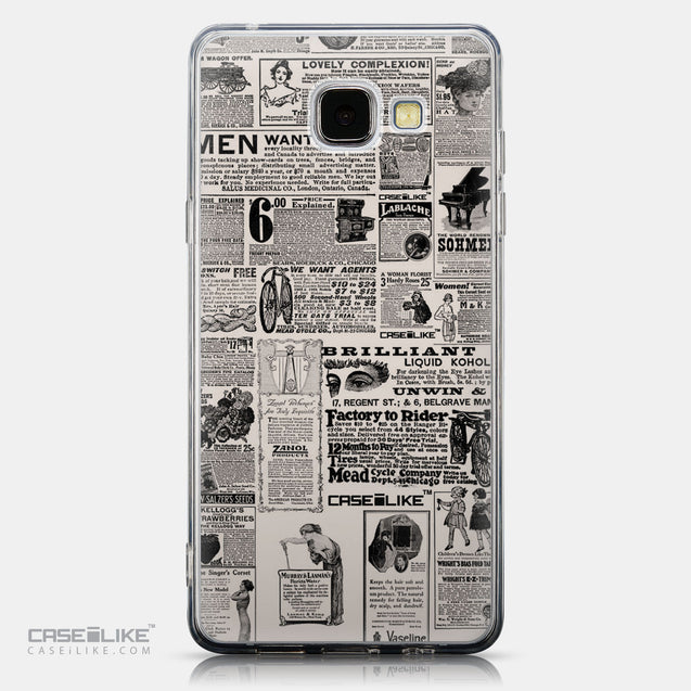 CASEiLIKE Samsung Galaxy A5 (2016) back cover Vintage Newspaper Advertising 4818