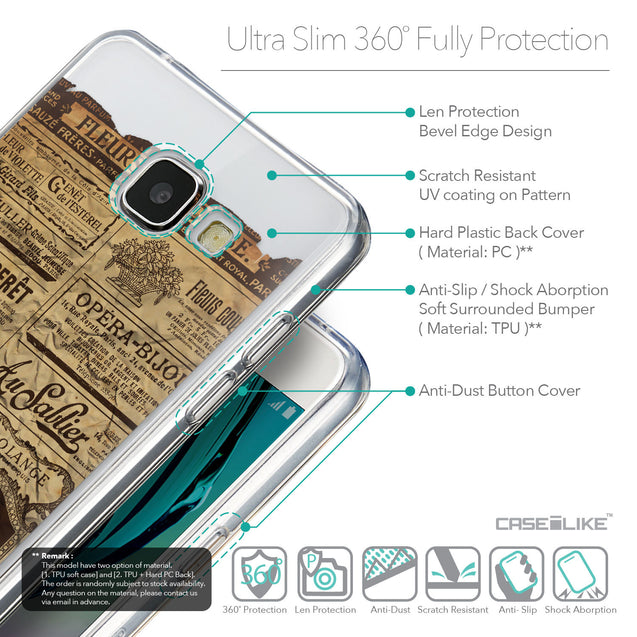 Details in English - CASEiLIKE Samsung Galaxy A5 (2016) back cover Vintage Newspaper Advertising 4819