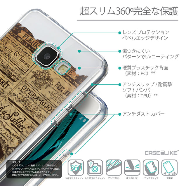Details in Japanese - CASEiLIKE Samsung Galaxy A5 (2016) back cover Vintage Newspaper Advertising 4819