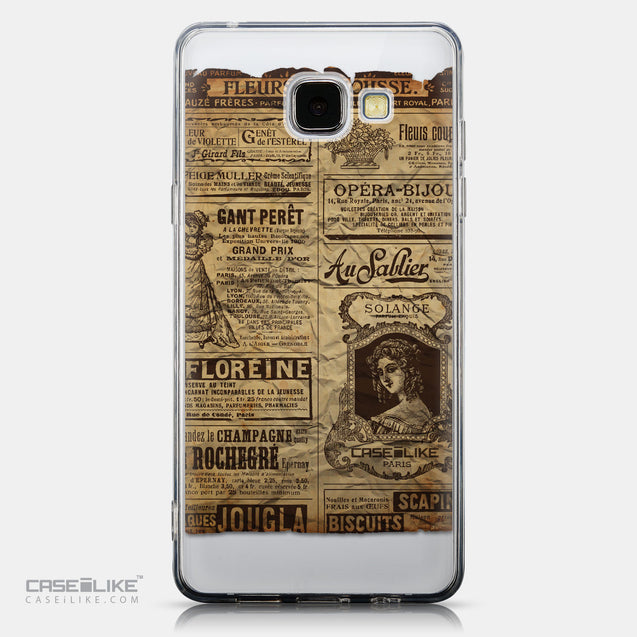 CASEiLIKE Samsung Galaxy A5 (2016) back cover Vintage Newspaper Advertising 4819