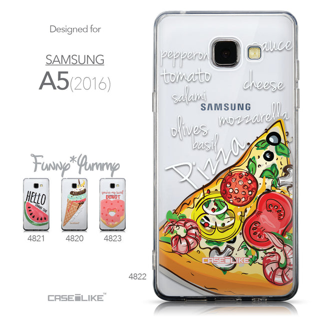 Collection - CASEiLIKE Samsung Galaxy A5 (2016) back cover Pizza 4822