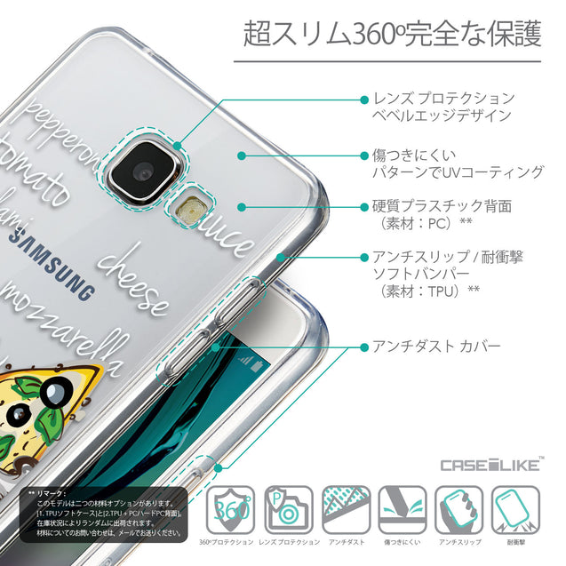 Details in Japanese - CASEiLIKE Samsung Galaxy A5 (2016) back cover Pizza 4822