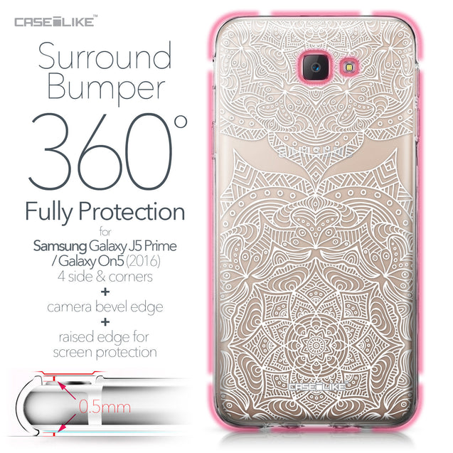 Samsung Galaxy J5 Prime / On5 (2016) case Mandala Art 2303 Bumper Case Protection | CASEiLIKE.com