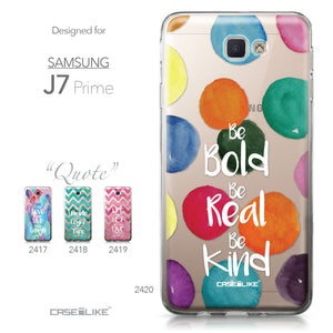 Samsung Galaxy J7 Prime / On NXT / On7 (2016) case Quote 2420 Collection | CASEiLIKE.com