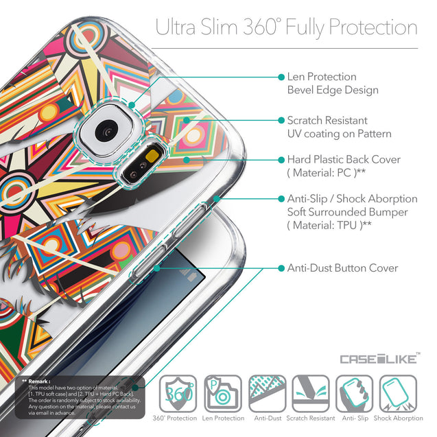 Details in English - CASEiLIKE Samsung Galaxy S6 back cover Indian Tribal Theme Pattern 2054