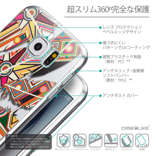 Details in Japanese - CASEiLIKE Samsung Galaxy S6 back cover Indian Tribal Theme Pattern 2054