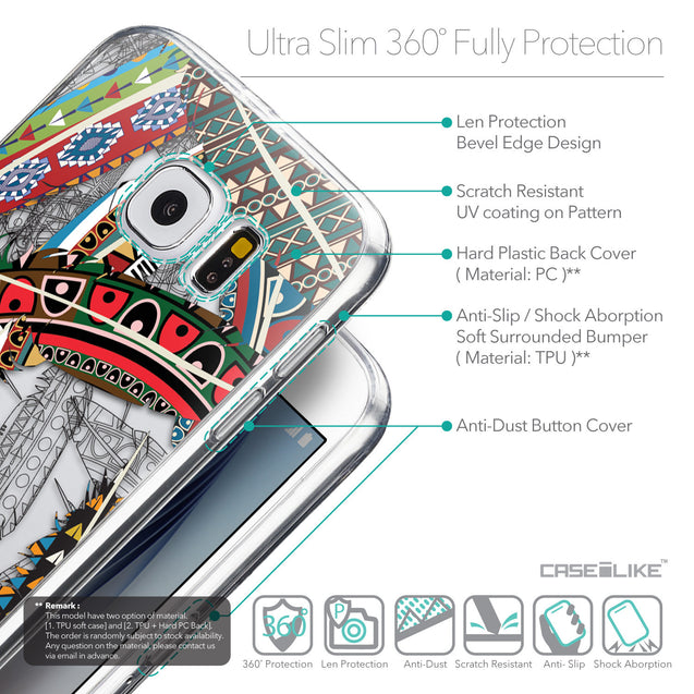 Details in English - CASEiLIKE Samsung Galaxy S6 back cover Indian Tribal Theme Pattern 2055