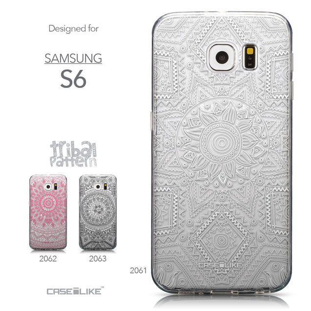 Collection - CASEiLIKE Samsung Galaxy S6 back cover Indian Line Art 2061