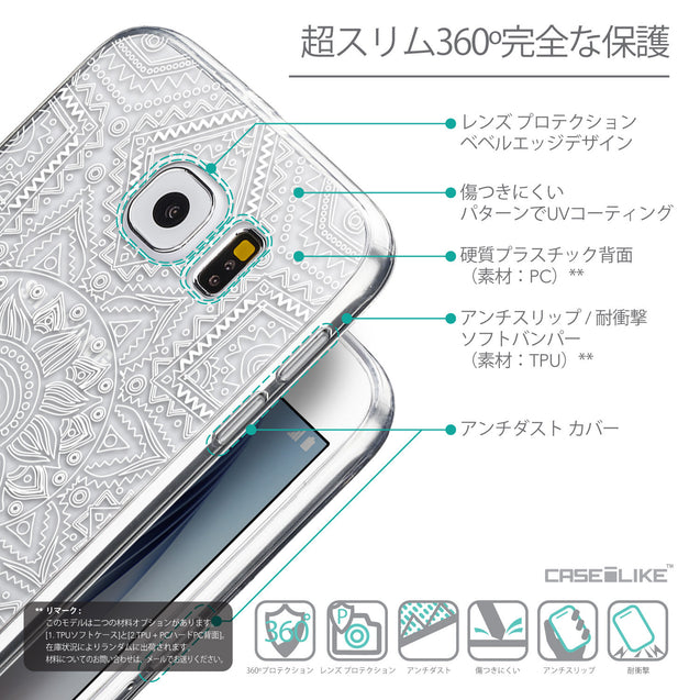 Details in Japanese - CASEiLIKE Samsung Galaxy S6 back cover Indian Line Art 2061