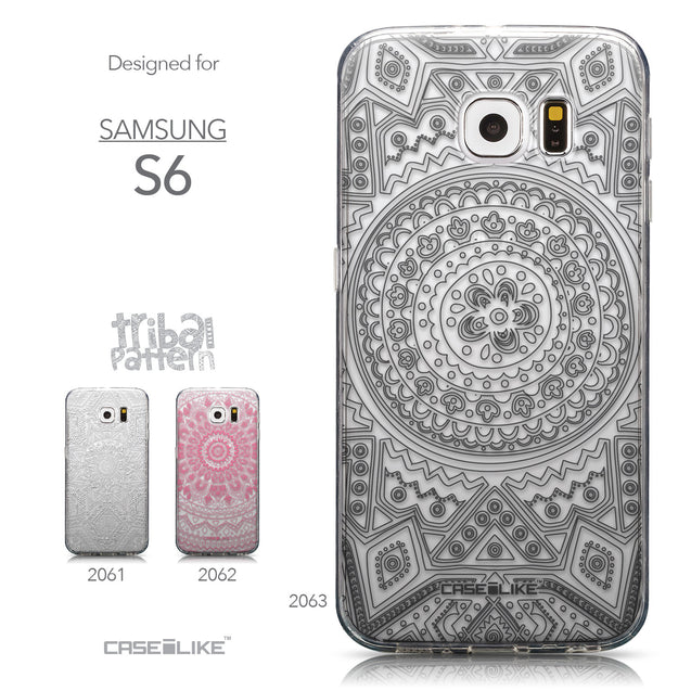 Collection - CASEiLIKE Samsung Galaxy S6 back cover Indian Line Art 2063