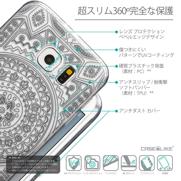 Details in Japanese - CASEiLIKE Samsung Galaxy S6 back cover Indian Line Art 2063