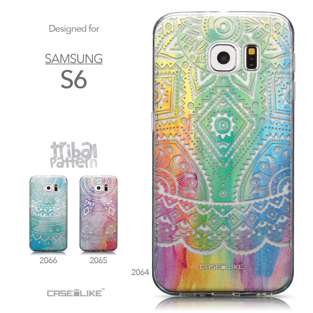 Collection - CASEiLIKE Samsung Galaxy S6 back cover Indian Line Art 2064