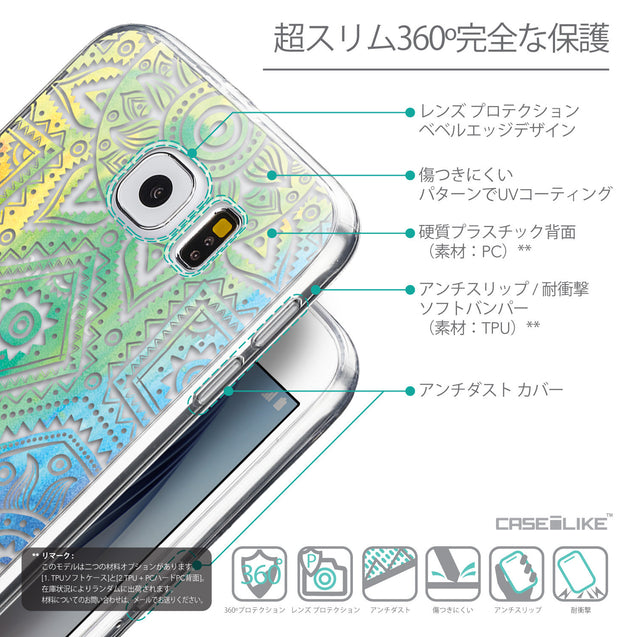 Details in Japanese - CASEiLIKE Samsung Galaxy S6 back cover Indian Line Art 2064