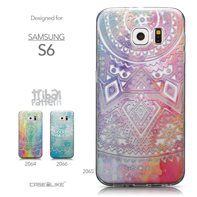 Collection - CASEiLIKE Samsung Galaxy S6 back cover Indian Line Art 2065