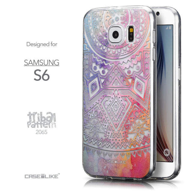 Front & Side View - CASEiLIKE Samsung Galaxy S6 back cover Indian Line Art 2065