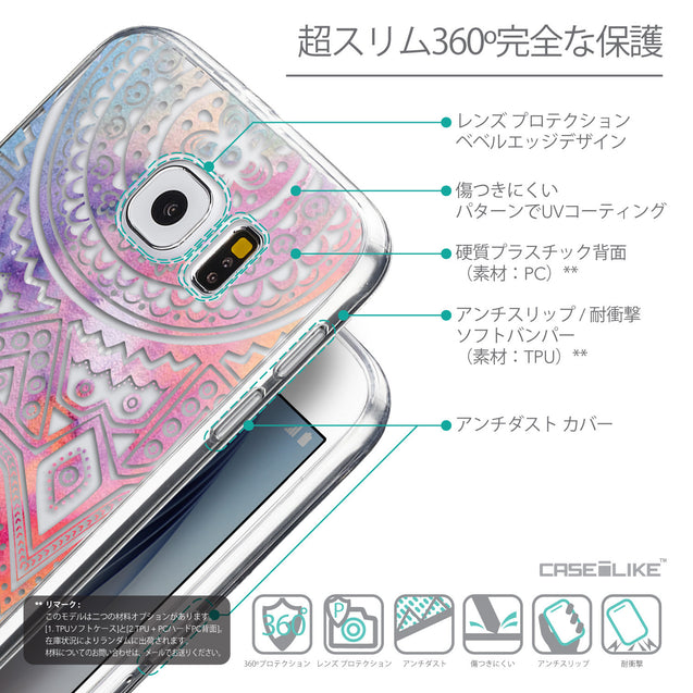 Details in Japanese - CASEiLIKE Samsung Galaxy S6 back cover Indian Line Art 2065