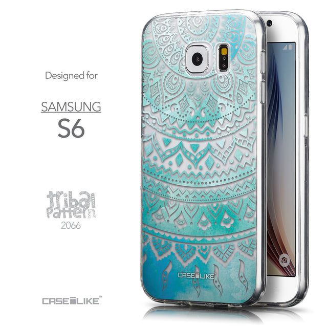 Front & Side View - CASEiLIKE Samsung Galaxy S6 back cover Indian Line Art 2066