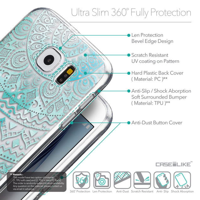 Details in English - CASEiLIKE Samsung Galaxy S6 back cover Indian Line Art 2066