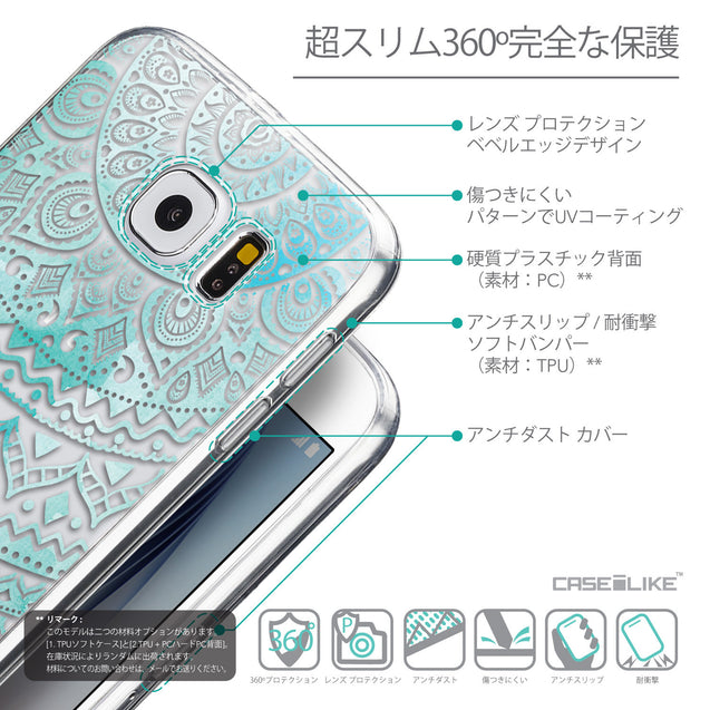 Details in Japanese - CASEiLIKE Samsung Galaxy S6 back cover Indian Line Art 2066