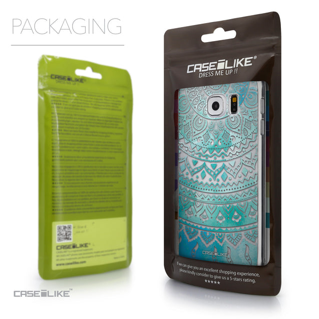 Packaging - CASEiLIKE Samsung Galaxy S6 back cover Indian Line Art 2066