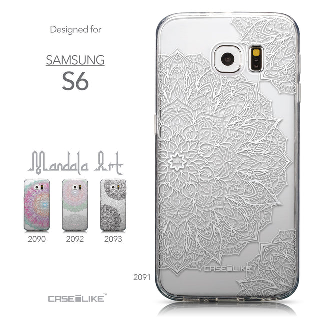 Collection - CASEiLIKE Samsung Galaxy S6 back cover Mandala Art 2091
