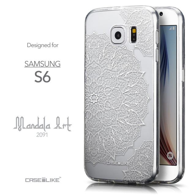 Front & Side View - CASEiLIKE Samsung Galaxy S6 back cover Mandala Art 2091