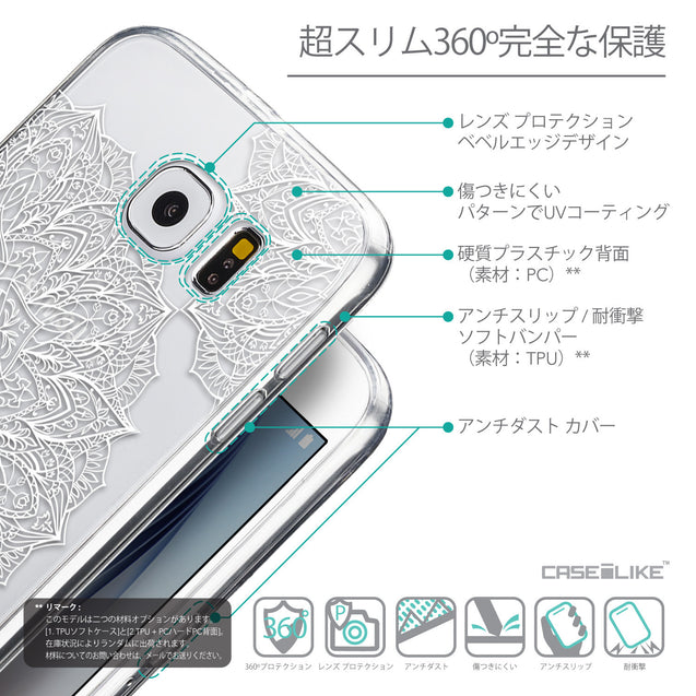 Details in Japanese - CASEiLIKE Samsung Galaxy S6 back cover Mandala Art 2091