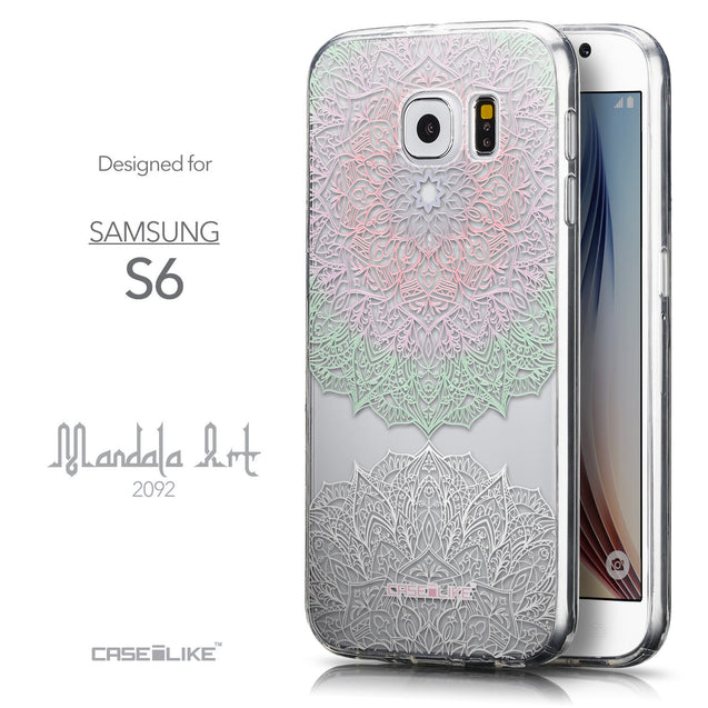 Front & Side View - CASEiLIKE Samsung Galaxy S6 back cover Mandala Art 2092
