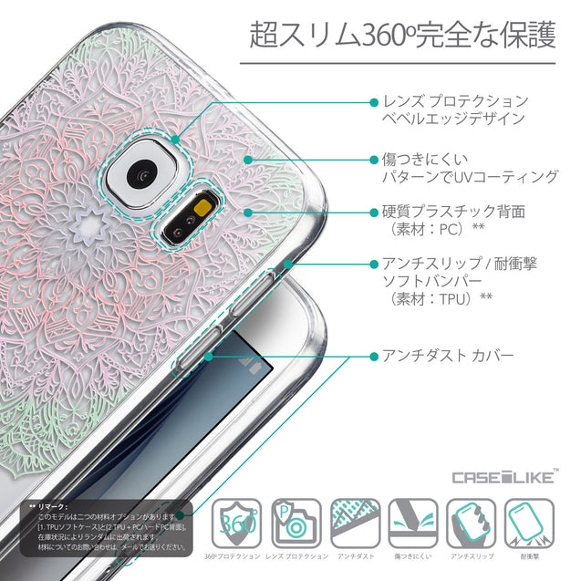 Details in Japanese - CASEiLIKE Samsung Galaxy S6 back cover Mandala Art 2092