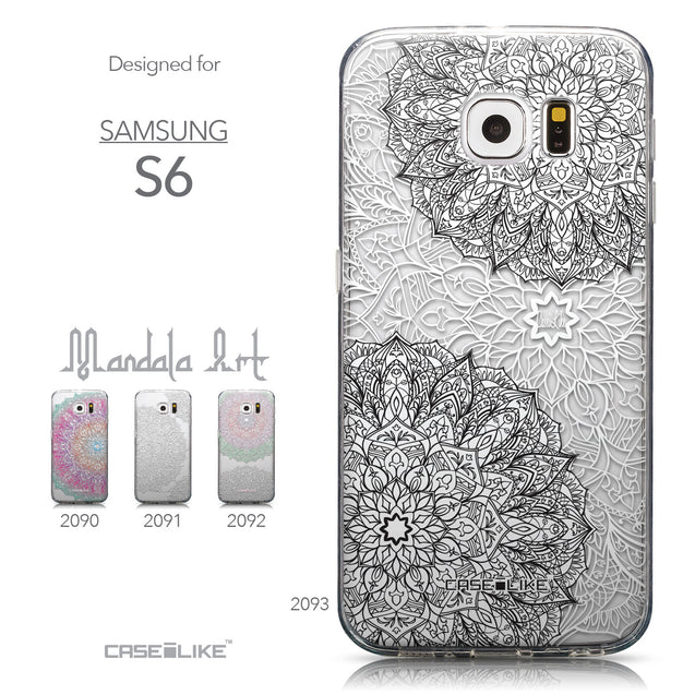 Collection - CASEiLIKE Samsung Galaxy S6 back cover Mandala Art 2093