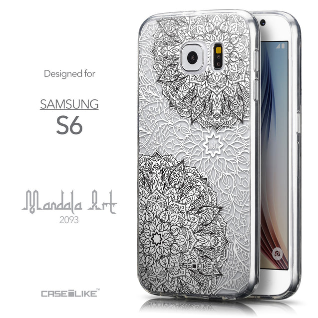 Front & Side View - CASEiLIKE Samsung Galaxy S6 back cover Mandala Art 2093