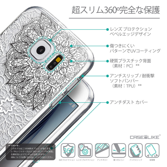 Details in Japanese - CASEiLIKE Samsung Galaxy S6 back cover Mandala Art 2093