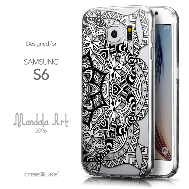Front & Side View - CASEiLIKE Samsung Galaxy S6 back cover Mandala Art 2096