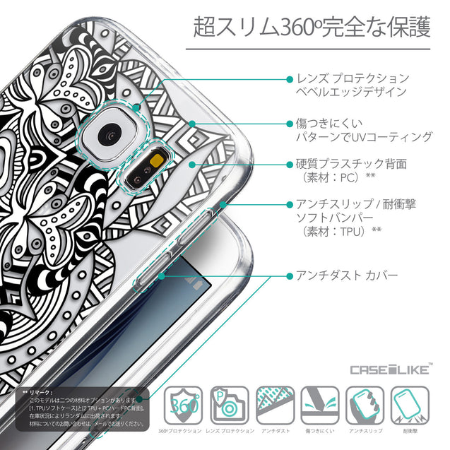 Details in Japanese - CASEiLIKE Samsung Galaxy S6 back cover Mandala Art 2096