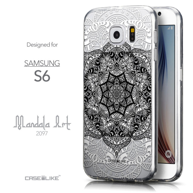 Front & Side View - CASEiLIKE Samsung Galaxy S6 back cover Mandala Art 2097