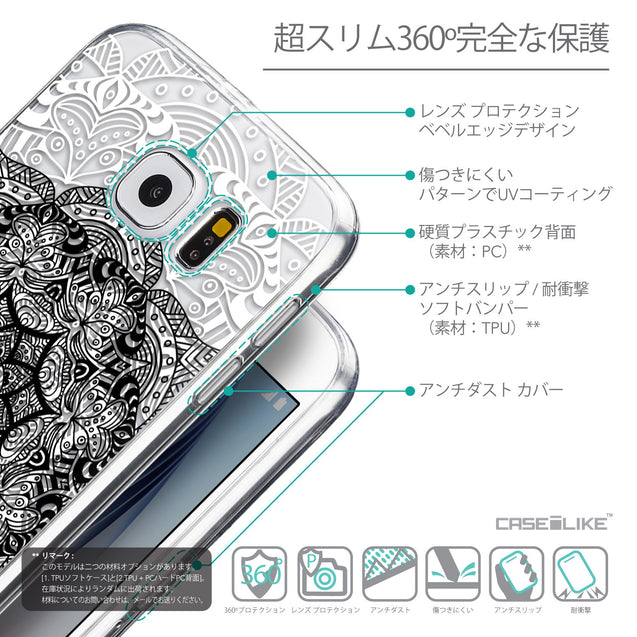 Details in Japanese - CASEiLIKE Samsung Galaxy S6 back cover Mandala Art 2097