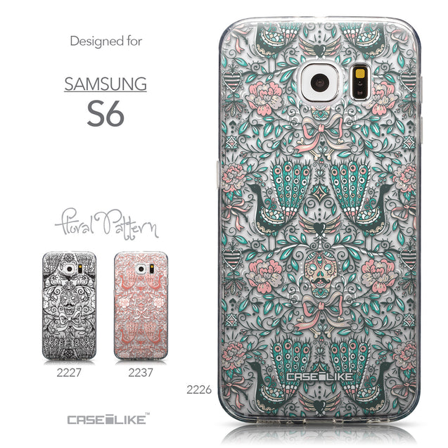 Collection - CASEiLIKE Samsung Galaxy S6 back cover Roses Ornamental Skulls Peacocks 2226