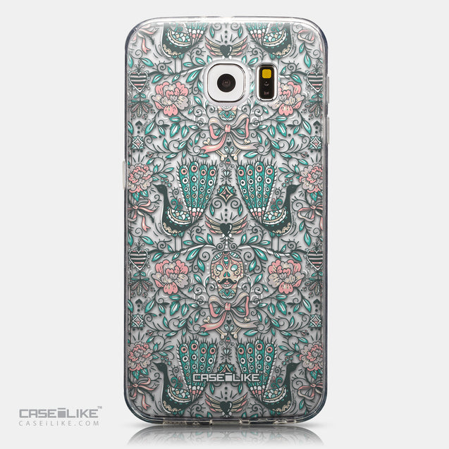 CASEiLIKE Samsung Galaxy S6 back cover Roses Ornamental Skulls Peacocks 2226