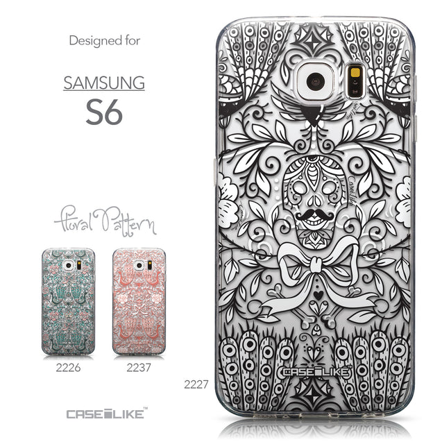 Collection - CASEiLIKE Samsung Galaxy S6 back cover Roses Ornamental Skulls Peacocks 2227