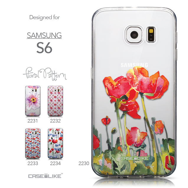 Collection - CASEiLIKE Samsung Galaxy S6 back cover Watercolor Floral 2230