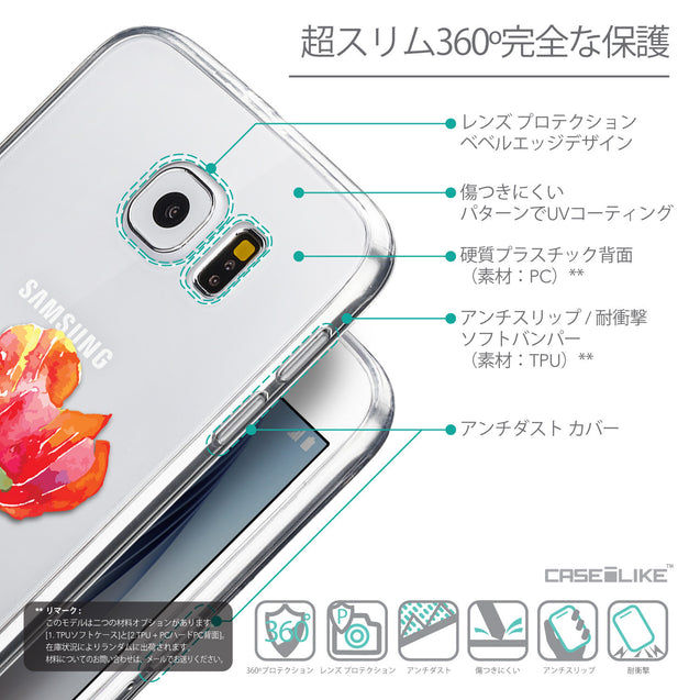Details in Japanese - CASEiLIKE Samsung Galaxy S6 back cover Watercolor Floral 2230