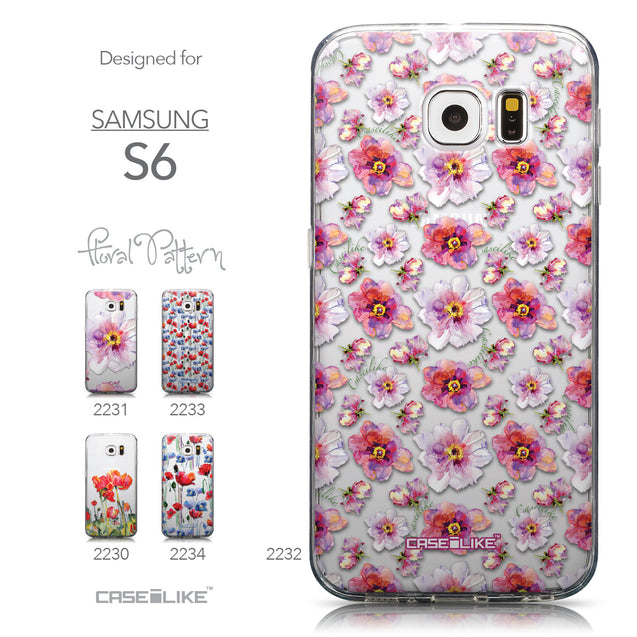 Collection - CASEiLIKE Samsung Galaxy S6 back cover Watercolor Floral 2232