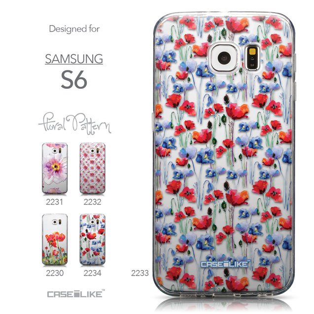 Collection - CASEiLIKE Samsung Galaxy S6 back cover Watercolor Floral 2233