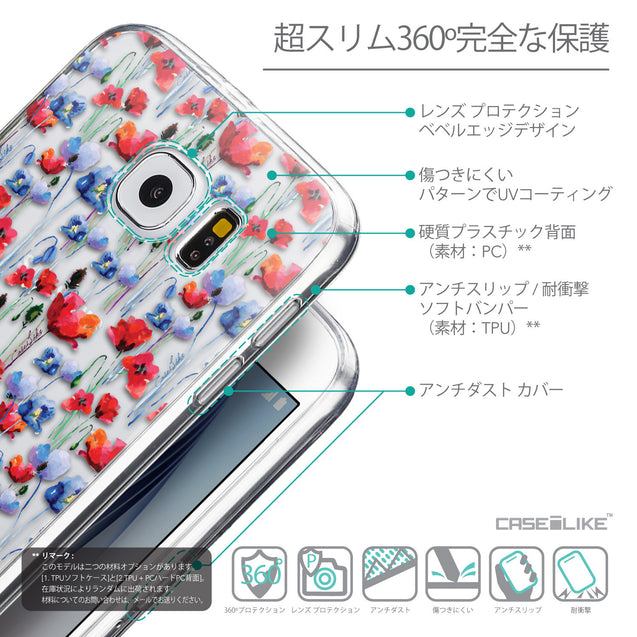 Details in Japanese - CASEiLIKE Samsung Galaxy S6 back cover Watercolor Floral 2233
