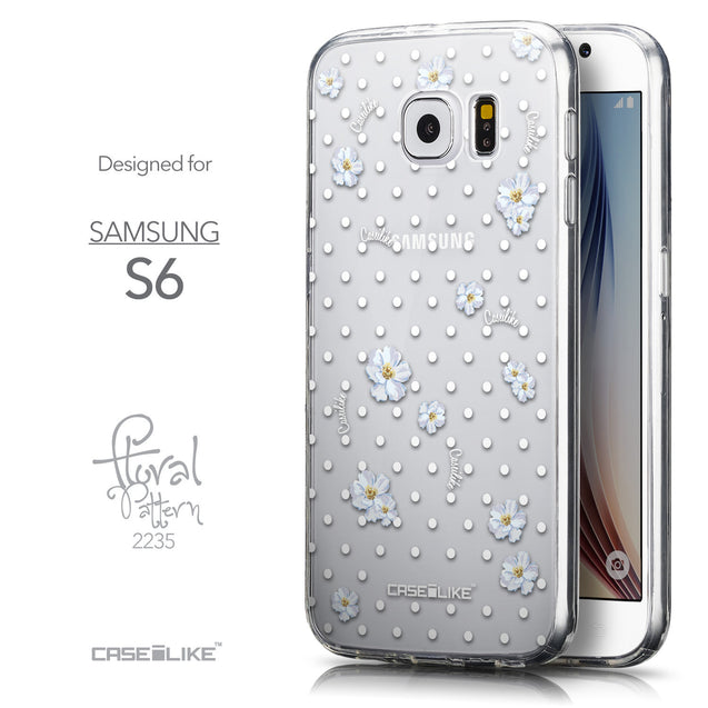 Front & Side View - CASEiLIKE Samsung Galaxy S6 back cover Indian Line Art 2061