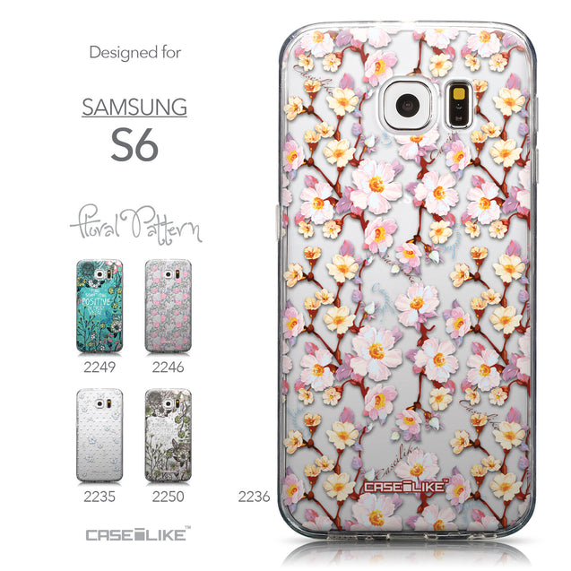 Collection - CASEiLIKE Samsung Galaxy S6 back cover Watercolor Floral 2236